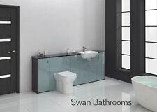Hacienda / blu Metallico Lucido Bagno Montato Furniture 2100 mm