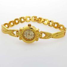 Gold Watch Luxury Small Ladies Girl Jewelry Bracelet Gift Quartz Wristwatch  O55