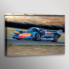 Vintage 1988 Porsche 962 Racecar Car Automotive Photo Wall Art Canvas Print