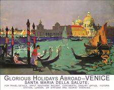 Venice Gondola Italy Italian Holiday Abroad Old Art Deco Small Metal/Tin Sign