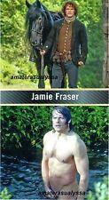 "Sam Heughan as Outlander's Jaime Fraser Nude in water 4"" Fridge Magnet or Photo"