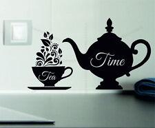 Tea Time Decorative Vinyl Wall Sticker Decal Kitchen Tiles Fridges