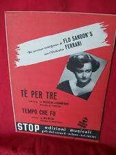 FLO SANDON'S Tè per tre + Tempo che fu Spartiti 1952
