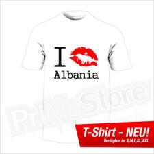 I Kiss Albania T-Shirt Albanien Albania Kosovo Kosova Shqiptar Balkan S - 5XL