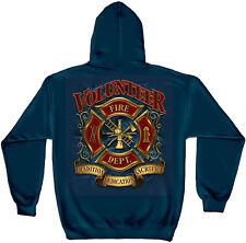 VOLUNTEER FIREFIGHTER HOODIE FIREMEN FIRE RESCUE FIRE DEPT MENS SWEATSHIRT S-3XL