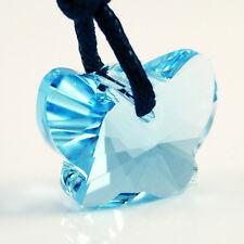Light Blue Butterfly Swarovski Crystal Necklace Chain