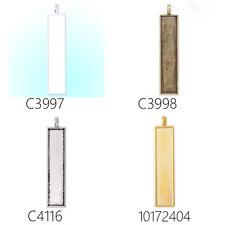 20Pcs 10*49.5mm Rectangular Cameo Cabochon Pendant Blank Base Pendant Trays