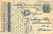 ITALIA REGNO: INTERO POSTALE viaggiato: TORINO - 1920 : WALTER MARTINY