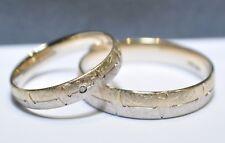 1 Paar Trauringe Eheringe Hochzeitsringe Gold 585 - Eismatt - Mit Diamant 0,02ct