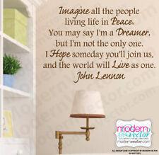 John Lennon IMAGINE Quote Vinyl Wall Decal Lettering The Beatles I'm a Dreamer