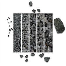 Halbe Palette Gabionen Steine Basaltbruch anthrazit 40-70mm 20x25 kg 0,37€//1kg