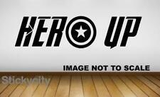 Hero Up Heros Marvel Vinyl Sticker Wall Decal Children Avengers Superhero 0238