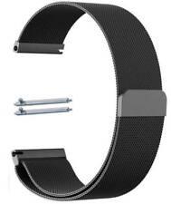 Black Magnetic Clasp Metal Steel Mesh Milanese Bracelet Watch Band Strap #5042