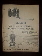 1950 Case A,B, & D. Mounted Mower Parts Catalog No E398