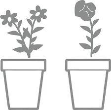 Blumen im Topf 2er Set Frühling Fenstersticker Aufkleber Dekoration Wandtattoo
