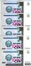 LOT Uzbekistan, 5 x 1000 (1,000) Sum, 2001, P-82, UNC