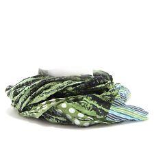 7728S sciarpa donna HAVANA & CO. verde multicolor pashmina scarf woman