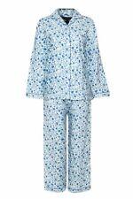 Champion Blue Sea Womens Floral Warm Wyncette Cotton Pyjamas