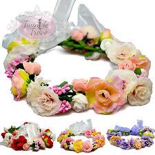 VINTAGE Fiore Floreale Capelli GHIRLANDE. Bohemien NUZIALE WEDDING Copricapo
