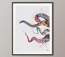 Octopus Tentacle Sea Life Watercolor Print Coastal Art Wall Poster Decor Art 6