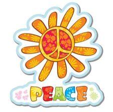 Peace Cute Flower Vinyl Sticker - SELECT SIZE