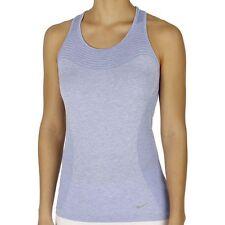 New NIKE Dri-FIT Knit Women's Running Tank Top Chalk Blue/Heather 718567-486 S L