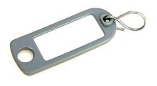 Schlüsselschilder zum Beschriften mit S-Haken Farbe: grau  5 - 200 Stück