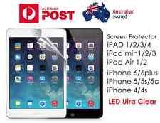 LCD Ultra Clear Screen Protector for ipad , ipad min, ipad Air , iP 4 5 6 6 Plus
