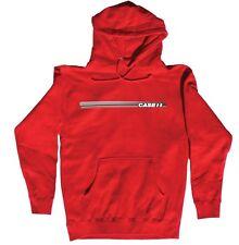 CASE IH *STRIPED LOGO* RED Hoodie Hooded Sweathshirt *NEW* M, L, XL, XXL