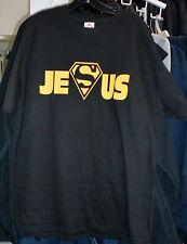 SUPERMAN JESUS CHRIST  GOLD Print Adult T- Shirt