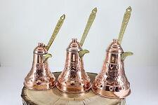 Handmade Turkish Copper Coffee Pot Chiselwork Cezve Jezve Jazzva Briki Heavier