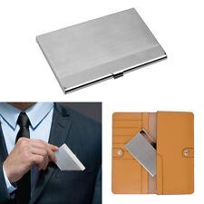 Acier inoxydable Boîte Etui Porte Carte Crédit Visite ID Billet Métal Rigide NF