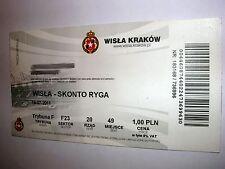 used ticket WISLA KRAKOW - SKONTO Riga 19.07.2011