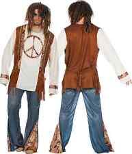 Hippie Flower Power Kostüm 70er Jahre Hippiekostüm Retro Woodstock Peace Herren
