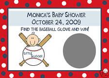 24 Baby Shower ScratchOff Cards Baseball LITTLE SLUGGER