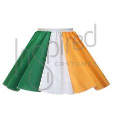 "Ladies 17"" IRISH Tricolour Flag Skirt OLYMPIC WORLD FLAG St Patricks DAY Ireland"