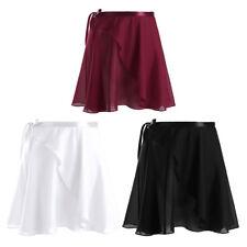 Women Adult Ballet Dance Leotard Wrap Scarf Tutu Skirt Skate Dress Costume