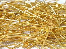 Headpins Chapado en Oro 32mm a 50mm de 500 piezas