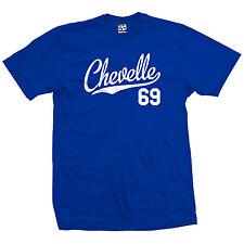 Chevelle 69 Script Tail Shirt - 1969 Classic Muscle Race Car - All Size & Colors