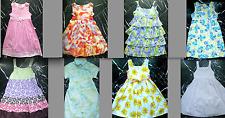 Oshkosh Floral Ruffled Embroidered Sleeveless Girls Party Shift Dress Sundress 6