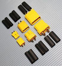 XT30 XT60 XT90 Hochstrom Stecker und Buchse Lipo Akku mit Schrumpfschlauch