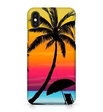 Tropical Palmier Soleil chaise mixte Couleur Sunset Téléphone Étui Housse