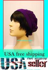 purple man boy thin Fashion Beret Beanie CROCHET French france skull CAP HAT