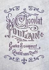French Chocolate STENCIL 2 sizes CPN Vintage Chic Furniture, SUPERIOR 250 MYLAR