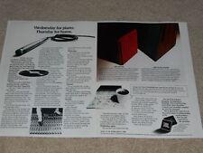 JBL L200, L100 Speaker Ad, 2 pg, Article, 1972, Studio