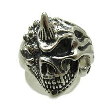 Sterlingsilber Ring massiv 925 Teufel Totenkopf r001721 Empress