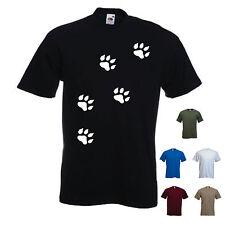 'Paw Prints' . Mens funny  dog / cat / animal T-shirt. S-XXL