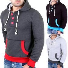 Reslad Fashion Inverno Giacca Uomo Anorak Parka Teddy-in Pile con Cappuccio Giacca rs-506