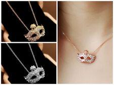 EYE MASK BALL Pendant NECKLACE Choker Diamond charm Fashion Women Chain Jewelry