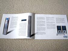 Nakamichi Soundspace 21/10/11/8/5/3 system brochure